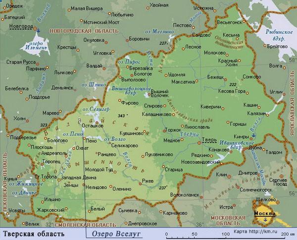 Озера Тверской области. Озеро Вселуг
